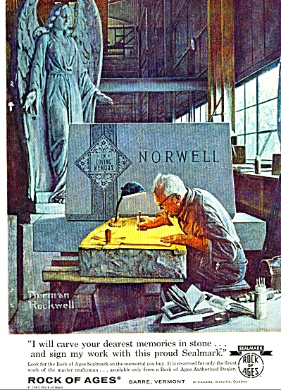 Rock of Ages - NORMAN ROCKWELL  ad 1963 (Image1)
