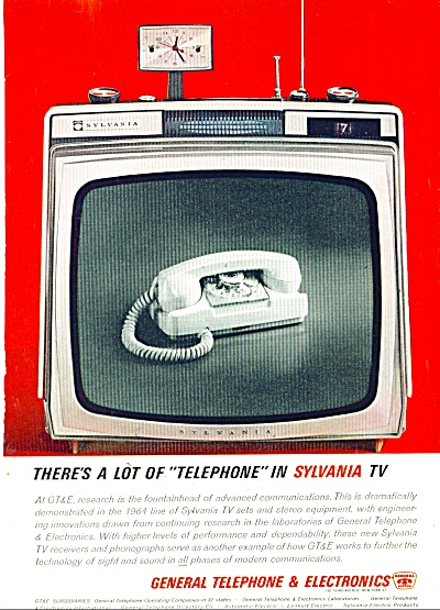 General Telephone & Electronics Ad 1963 Sylvania