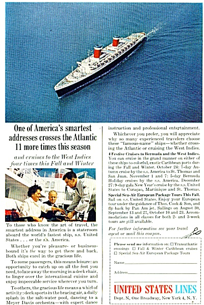 United States Lines Ad 1963