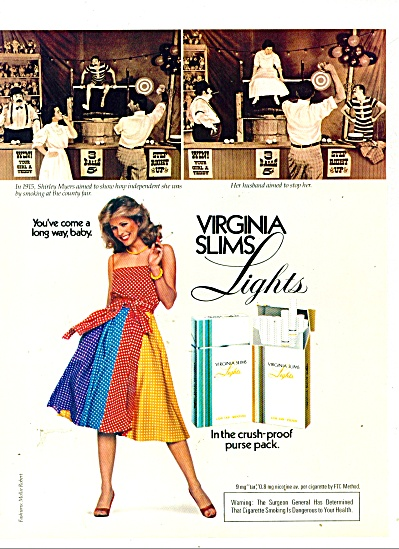 Virginia Slims lights cigarettes - 1981 (Image1)