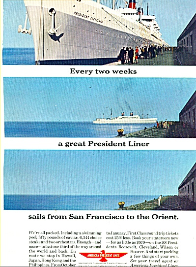 American President Lines Ad 1963