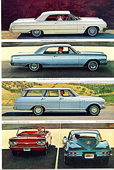 Chevrolet autos for 1963 ad (Image1)