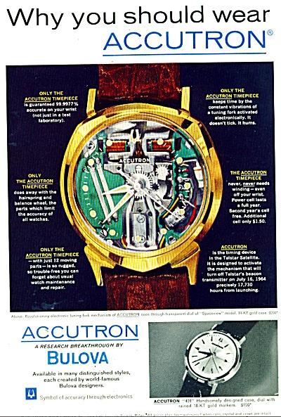 Bulova accutron watch ad 1963 (Image1)