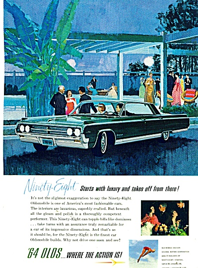 Oldsmobile Auto For 1964 - 98 Ad