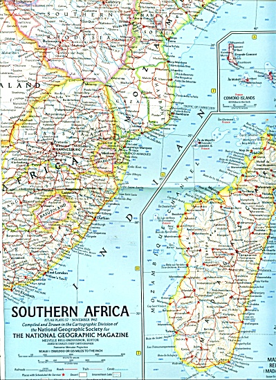 MAP OF  SOUTHERN AFRICA - 1962 (Image1)
