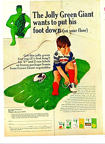 Jolly Green Giant vegetables ad -  1981 (Image1)