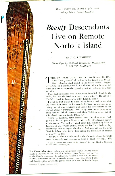the remote NORFOLK ISLAND  story - 1960 (Image1)