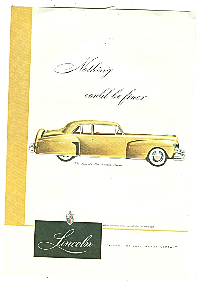 Lincoln Continental Coupe ad -1947 (Image1)