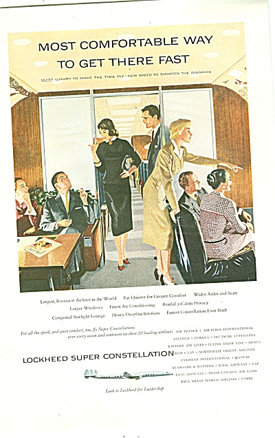 Lockheed Super Constellation Ad 1955