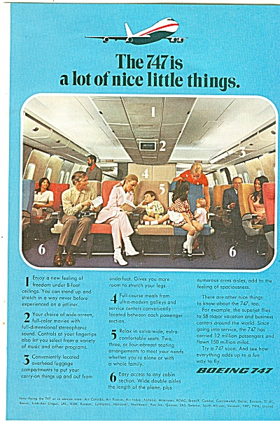 Boeing 747 aircraft ad (Image1)