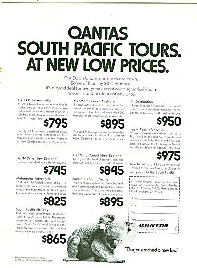 Qantas airlines ad (Image1)