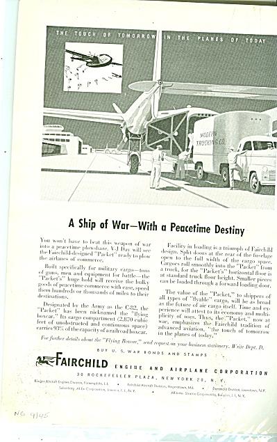 Fairchild airplanes ad 1945 (Image1)
