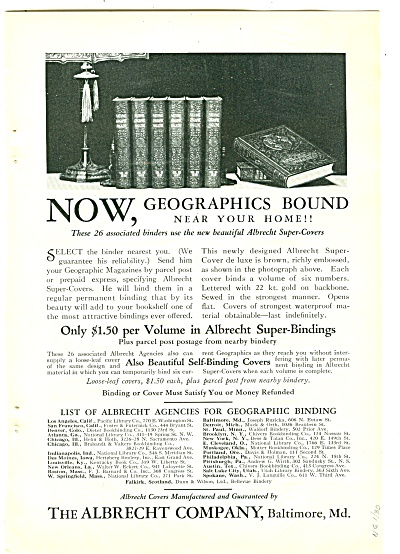The Albrecht Company Ad 1930