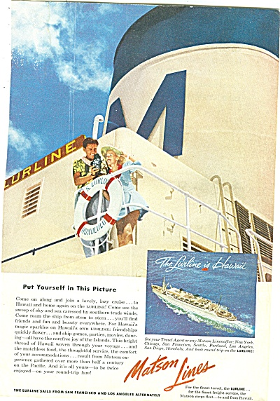 Matson Lines ad 1953 (Image1)