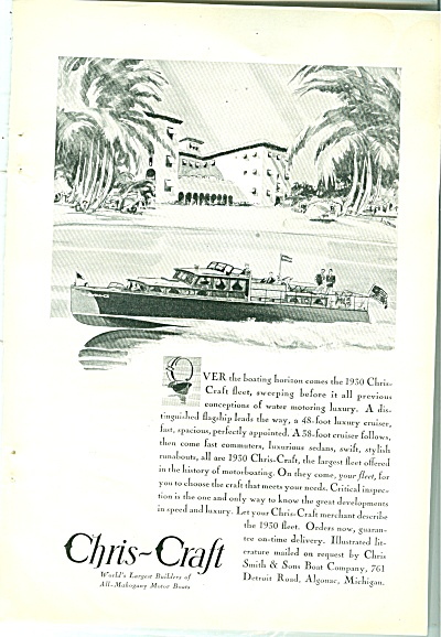 Chris Craft Books Ad 1930