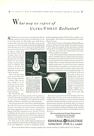 General Electric lamps ad 1930 (Image1)