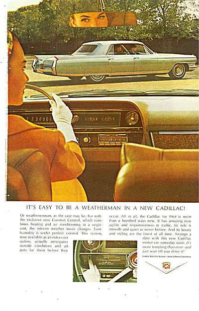 Cadillac Automobile For 1964
