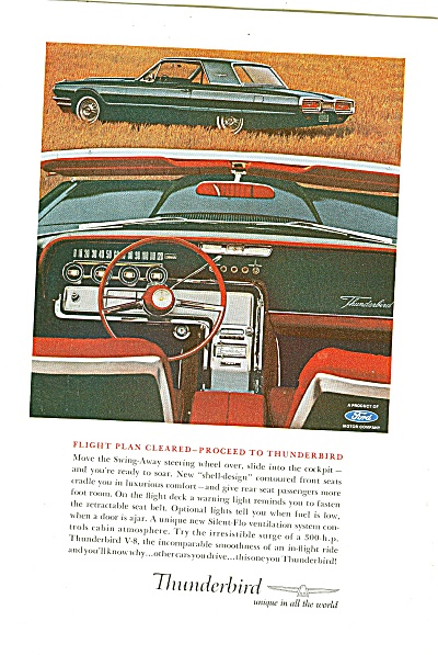 Ford Thunderbird for 1964 ad FLIGHT PLAN CLEARED (Image1)