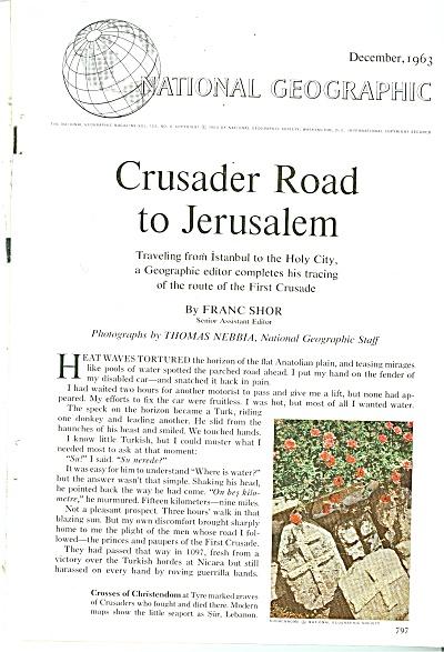 Crusader road to Jerusalem story - 1973 (Image1)