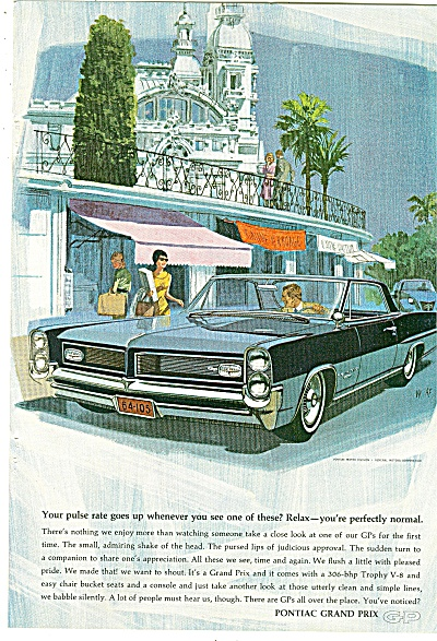 Pontiac Grand Prix For 1964 Ad