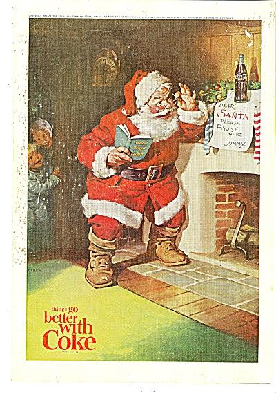 Coca Cola ad - 1963 SANTA CLAUS W/ JIMMYS LETTER (Image1)