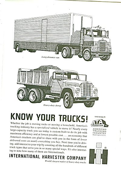 International Trucks Ad 1963