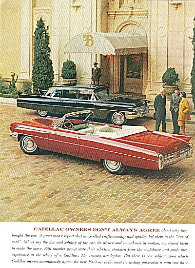 Cadillac Automobile For 1963 Ad