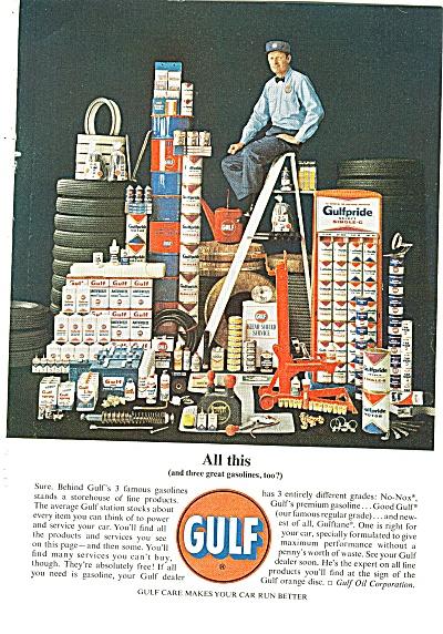 Gulf oil company ad 1963 (Image1)