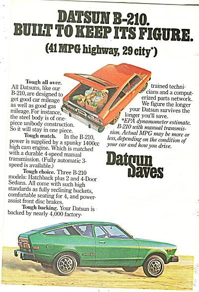 Datsun auto ad 1976 (Image1)