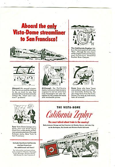 California Zephyr - 1952 ad (Image1)