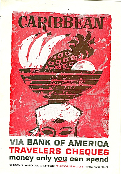 Travelers cheques-bank of America ad 1960 (Image1)
