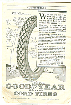 Goodyear cord tires  ad - 1917 (Image1)