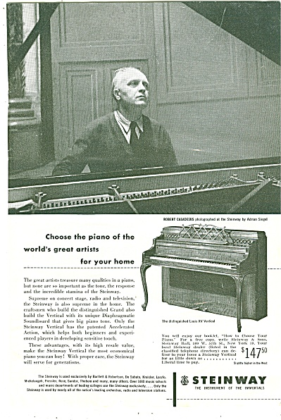 Steinway Piano Ad 1952