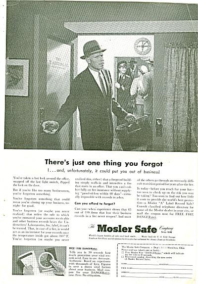 Mosler Safe company ad 1954 (Image1)