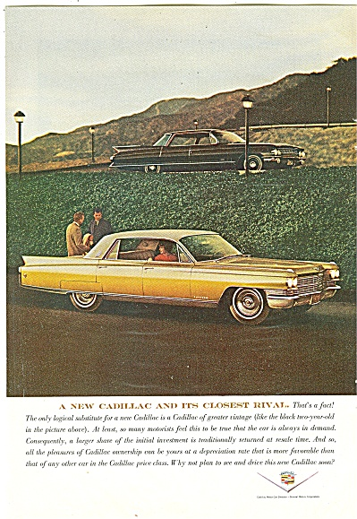 Cadillac Auto Ad April 1963