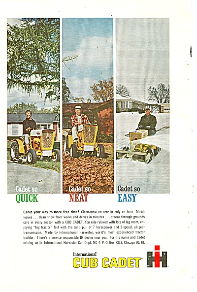 International cub cadet ad - 1963 (Image1)