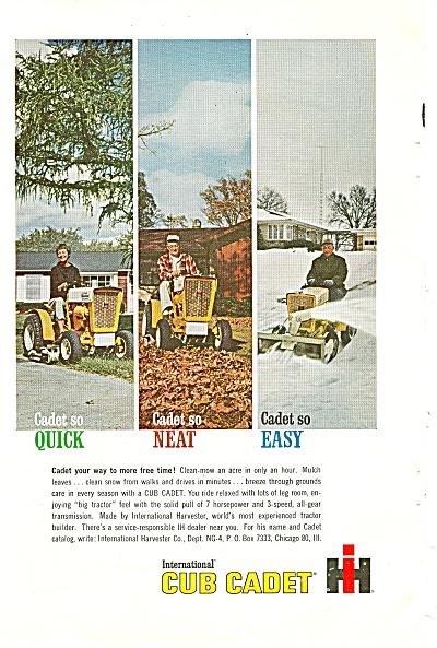 International cub cadet ad - 1963 (Image1)