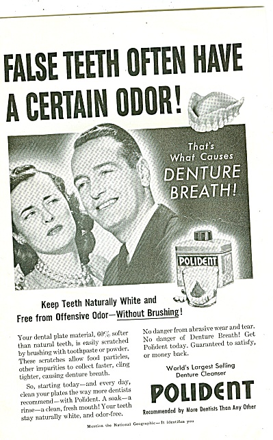 Polident denture cleanser ad 1947 (Image1)