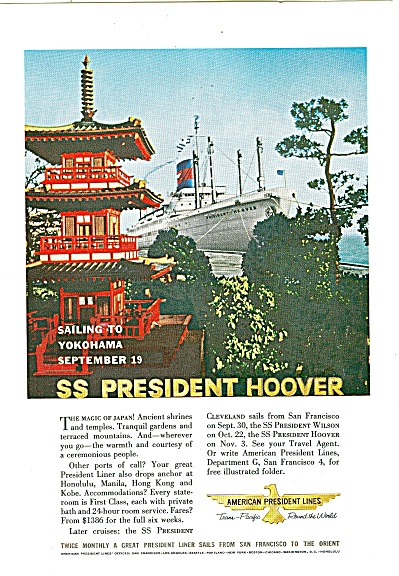 American President Lines Ad 1960