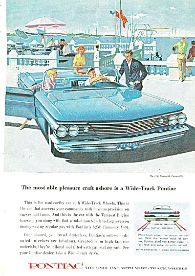 Pontiac Wide Track For 1960 Ad