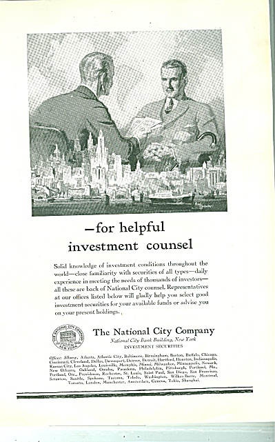 The National City Company ad 1930 (Image1)