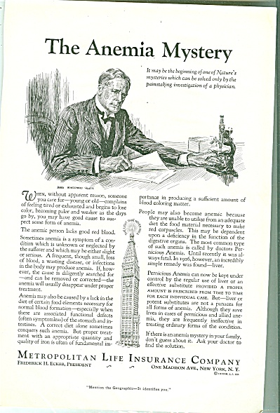 Metropolitan Life Insurance Company ads 1933 (Image1)