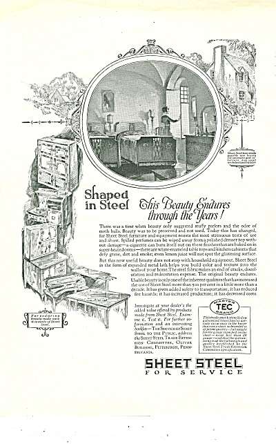 Sheet steel for service ad 1926 (Image1)