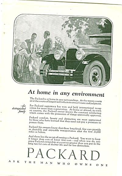 Packard Car Ad 1926