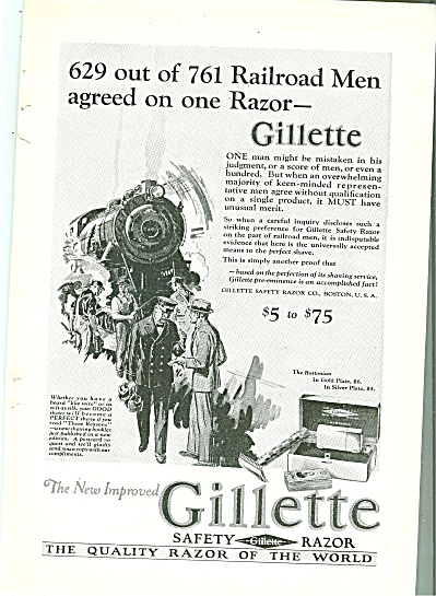 Gillette Safety Razor Ad 1926