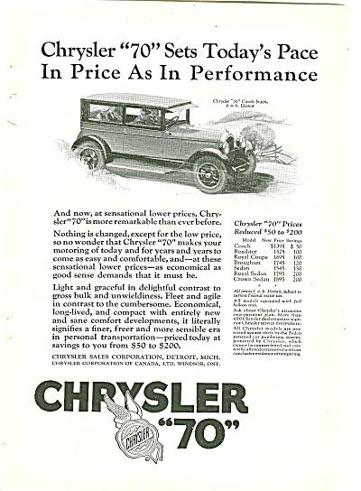 "Chrysler ""70"" auto ad 1926 (Image1)"