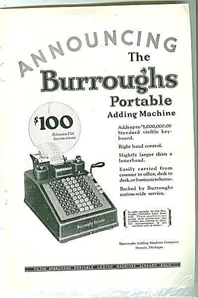 Burroughts adding machine ad 1926 (Image1)