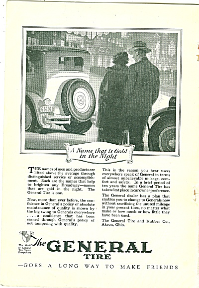 The General Tire Ad - 1926
