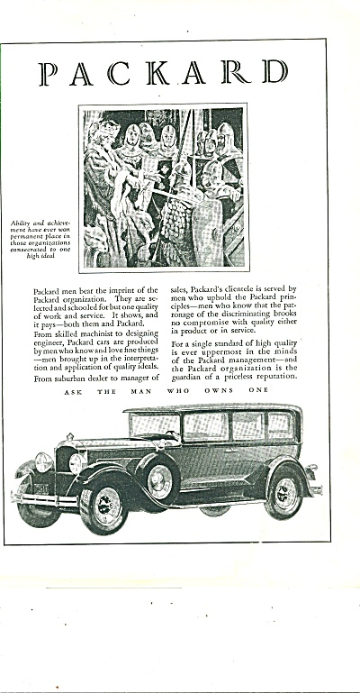 Packard Motor Car Ad 1929