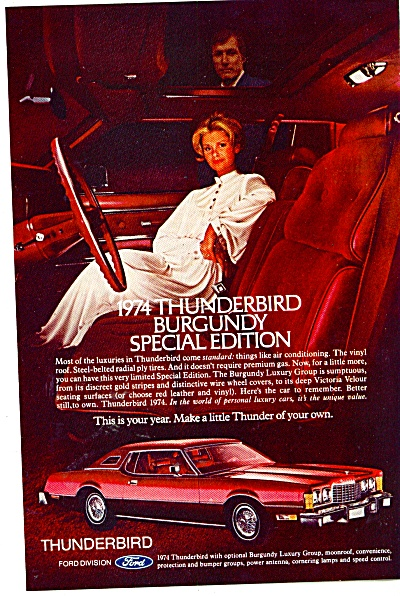 Thunderbird Burgundy special edition 1974 ad (Image1)